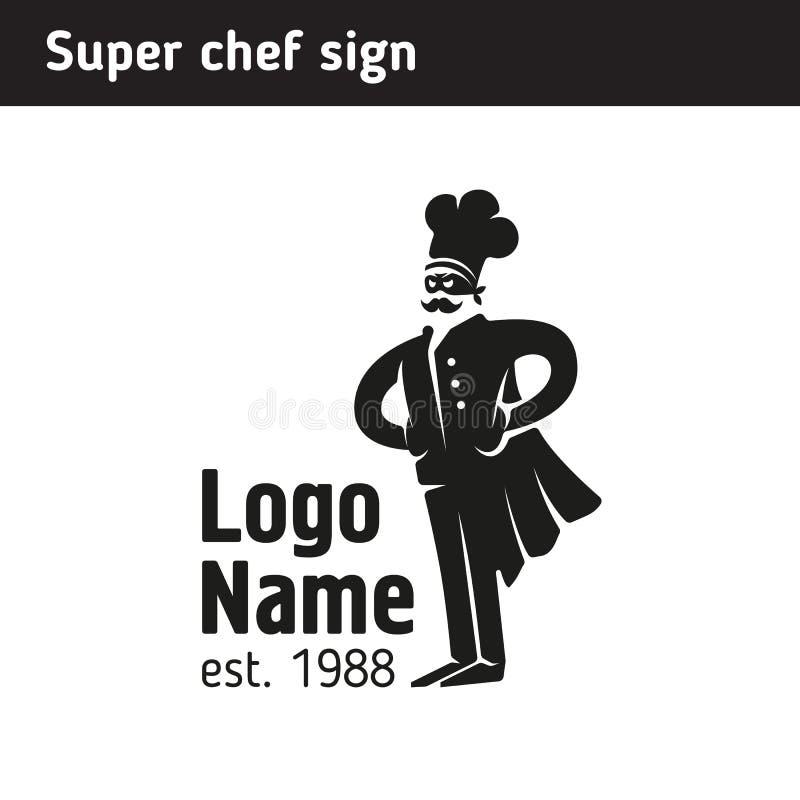 Szyldowy super kucharz w nakrętce royalty ilustracja