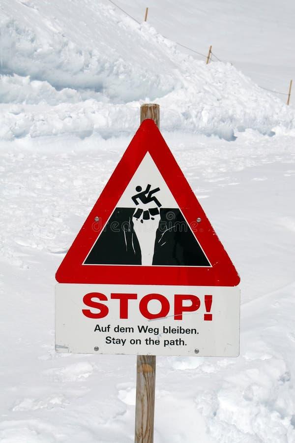 szyldowy trasy ostrzeżenie zdjęcie royalty free