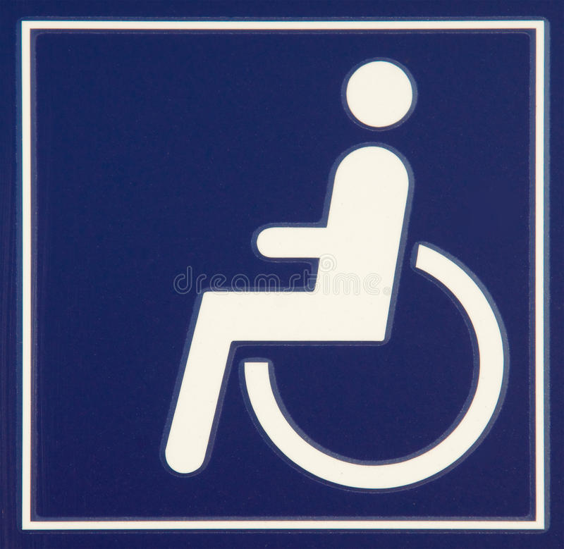 szyldowy wózek inwalidzki zdjęcia stock