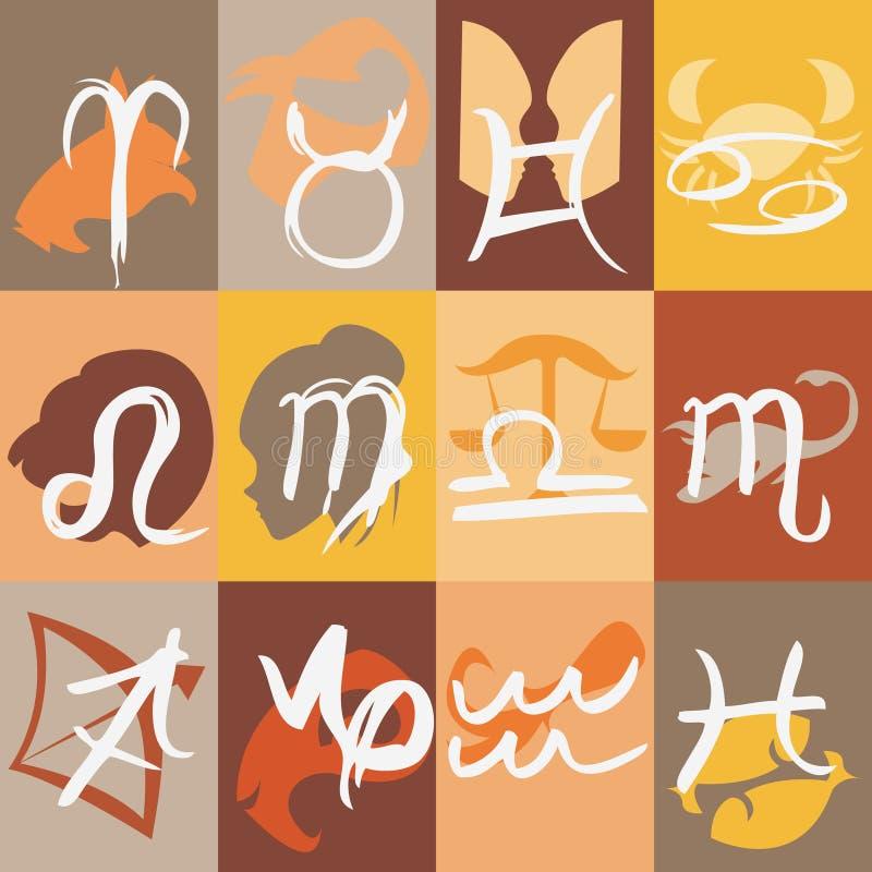 szyldowy wektorowy zodiak ilustracji
