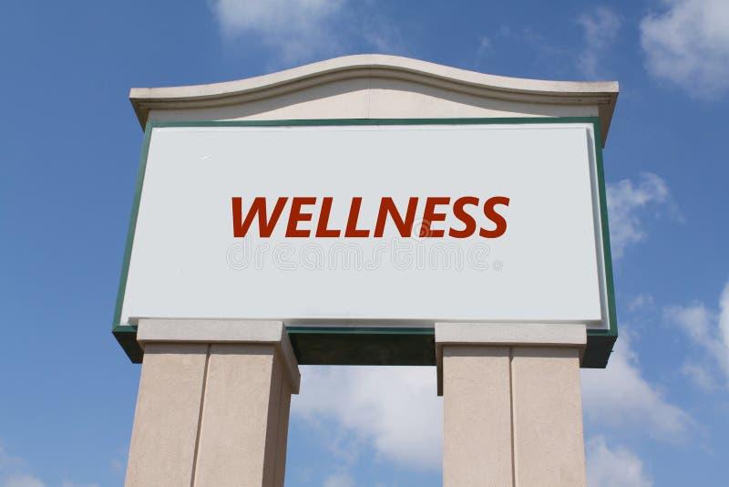 szyldowy wellness zdjęcie stock