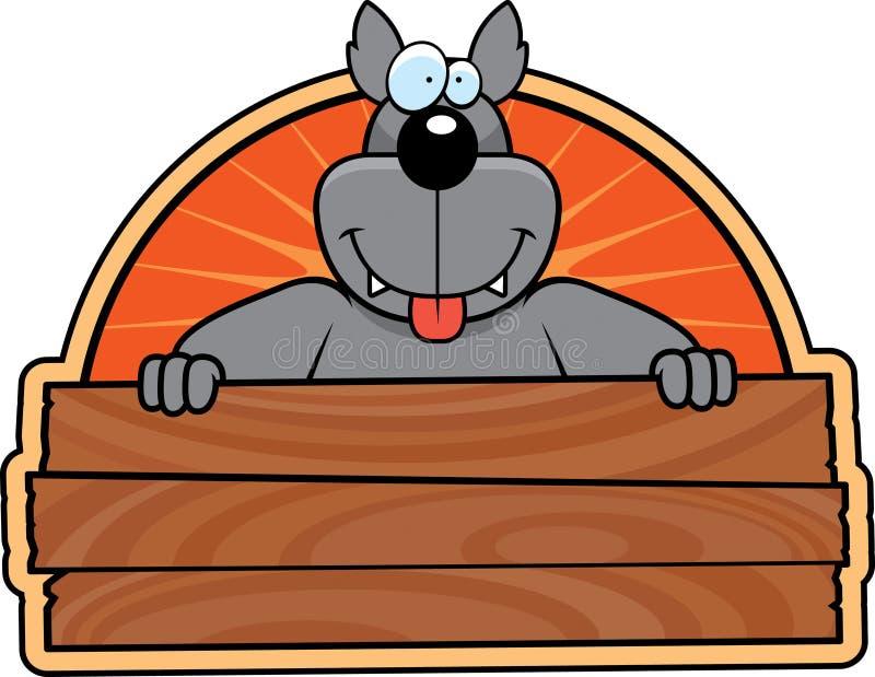 szyldowy wilk ilustracji