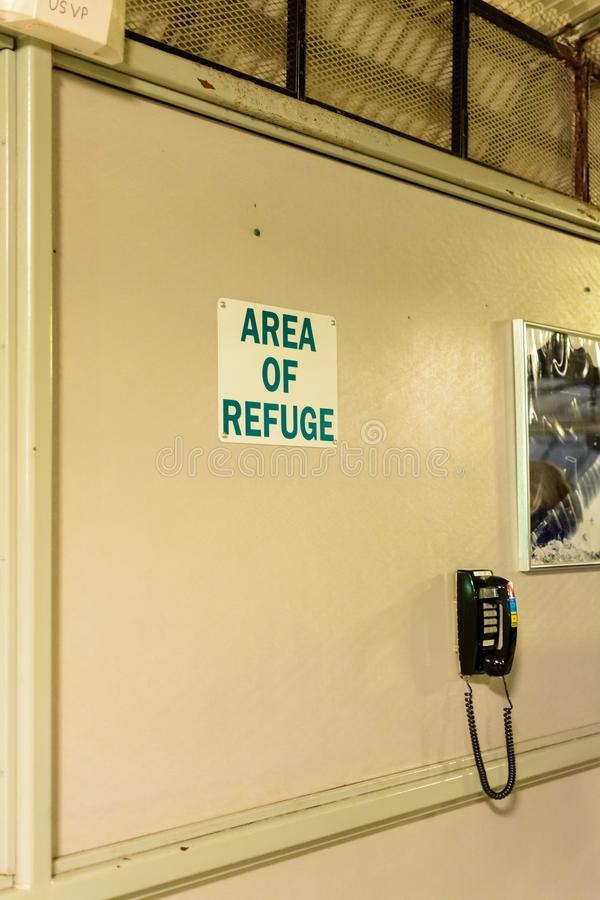 Szyldowy wyznaczanie teren schronienie obrazy stock