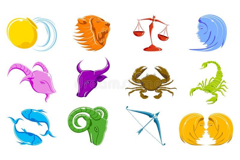szyldowy zodiak ilustracji