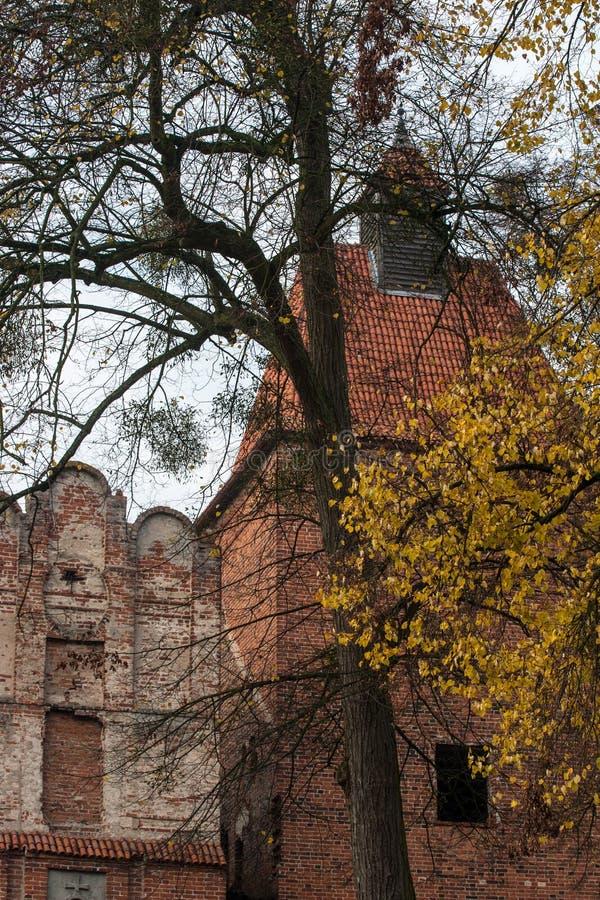 Szymbarkkasteel in Polen stock afbeelding