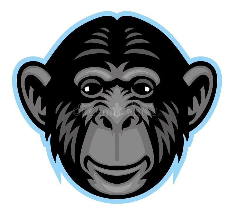 Szympans głowa ilustracji