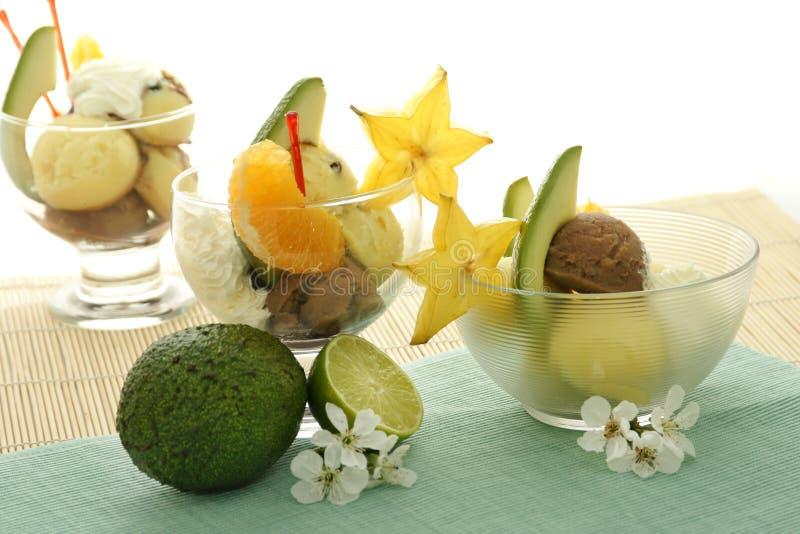 szyszkowy owoców kremowy lodu fotografia stock