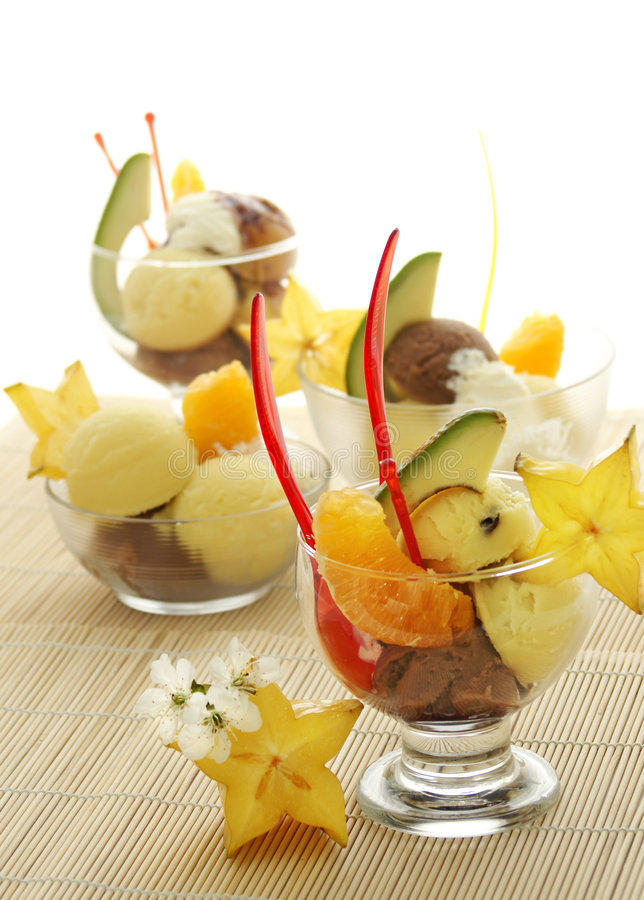 szyszkowy owoców kremowy lodu fotografia royalty free