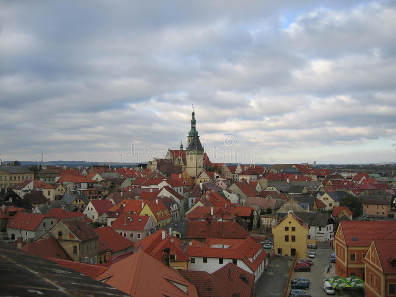 Tábor - Czech Republic. Is a city of the Czech Republic, in the South Bohemian Region. The historical part of the town is situated on the summit of an royalty free stock photo