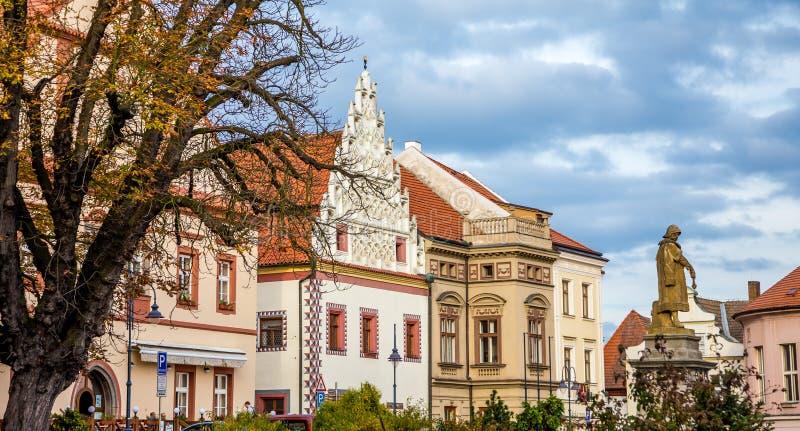 Tábor. Photography of ancient buildings in Tábor Czech Republic royalty free stock photos