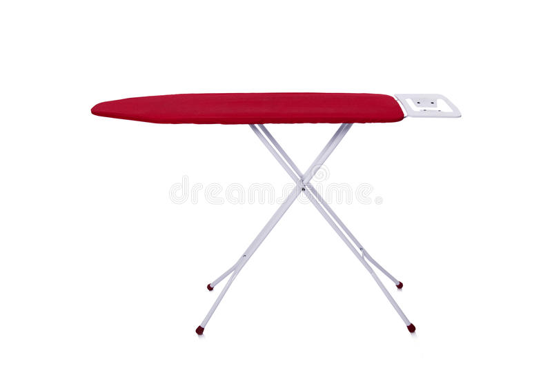 A tábua de passar a ferro vermelha isolada no fundo branco fotografia de stock royalty free