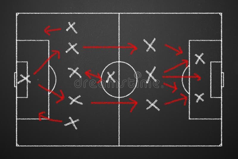 Táctica del fútbol imagen de archivo libre de regalías