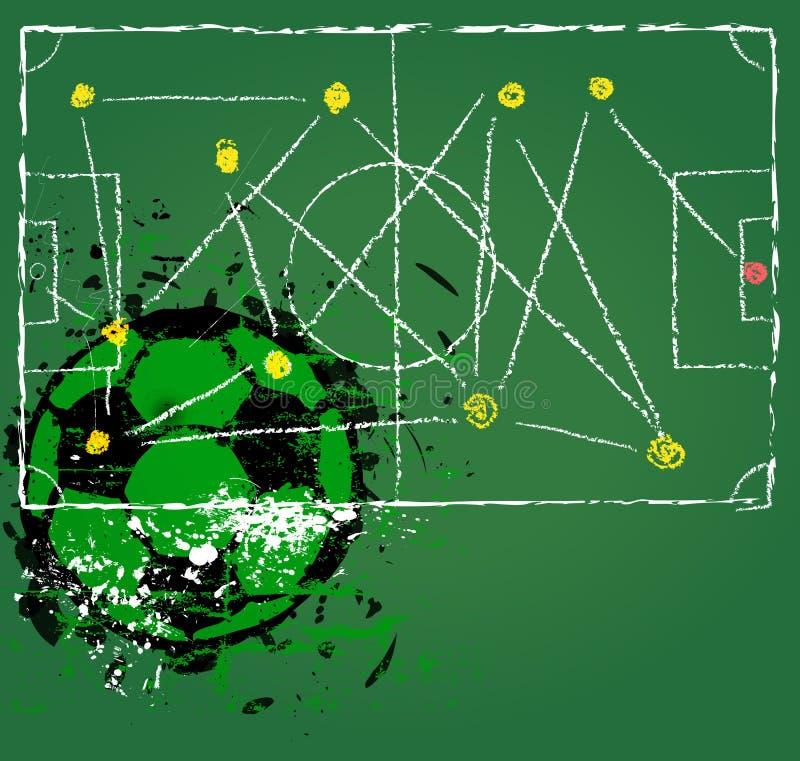 Táctica del fútbol o del fútbol libre illustration