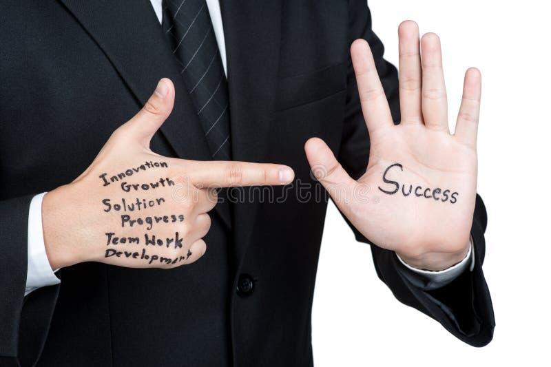 Táctica del hombre de negocios para el éxito aislado fotos de archivo