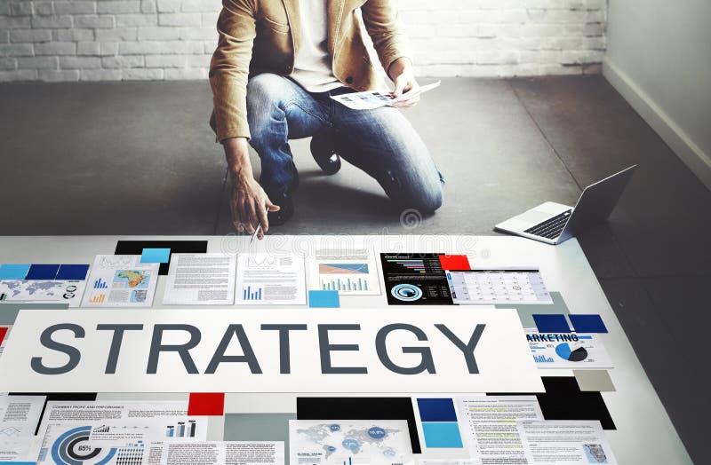 Táctica estratégicas de Strategize de la estrategia que planean concepto fotos de archivo libres de regalías