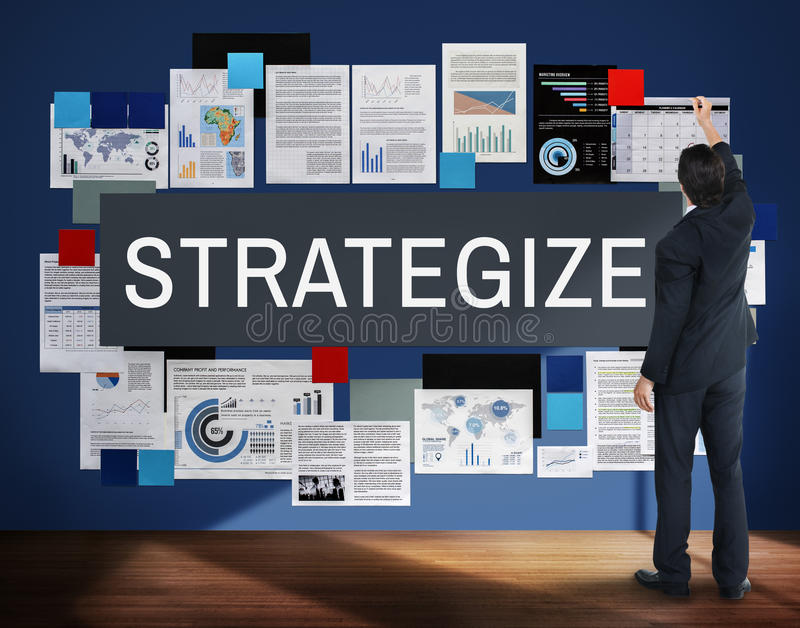 Táctica estratégicas de Strategize de la estrategia que planean concepto imagen de archivo libre de regalías