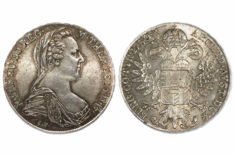 Tálero 1780 de Austria fotografía de archivo