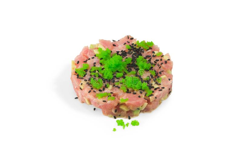 Tártaro do atum do ` da maneira do sushi do ` imagens de stock