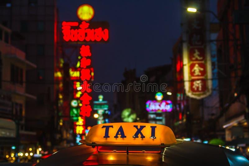 Táxi Banguecoque fotografia de stock