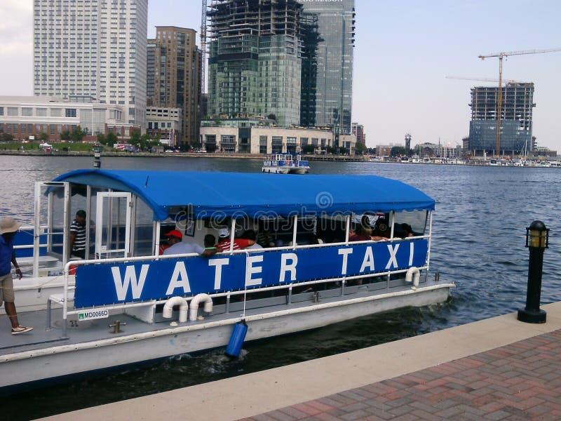 Táxi da água de Baltimore imagens de stock