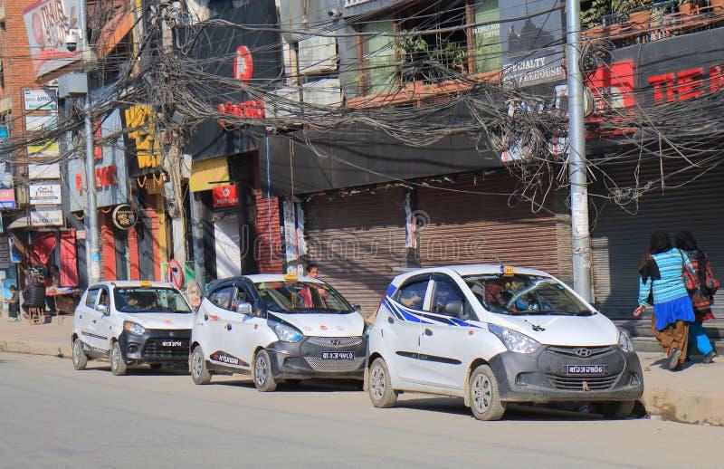 Táxi de táxi Kathmandu Nepal fotografia de stock