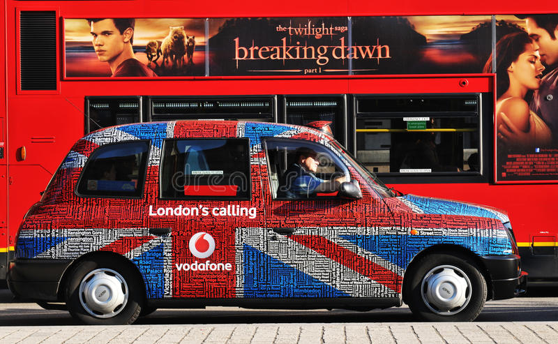 Táxi de Londres fotografia de stock royalty free