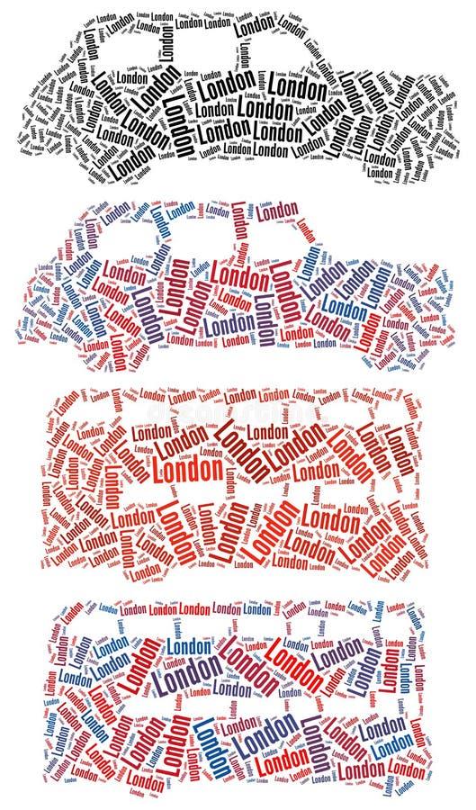 Táxi de Londres e barramento de Londres ilustração royalty free
