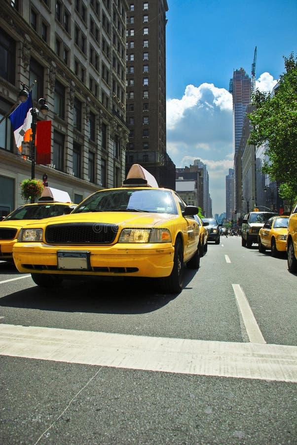Táxi de New York fotografia de stock