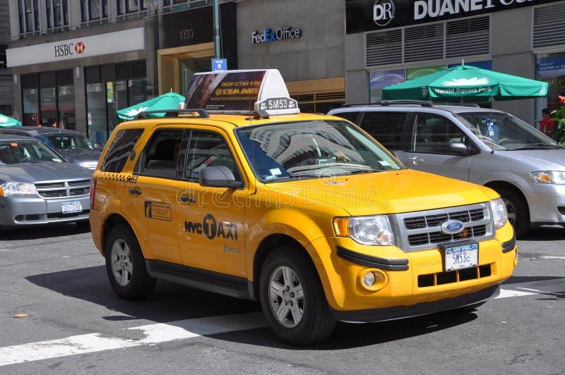 Táxi de NYC, táxi amarelo em New York City foto de stock