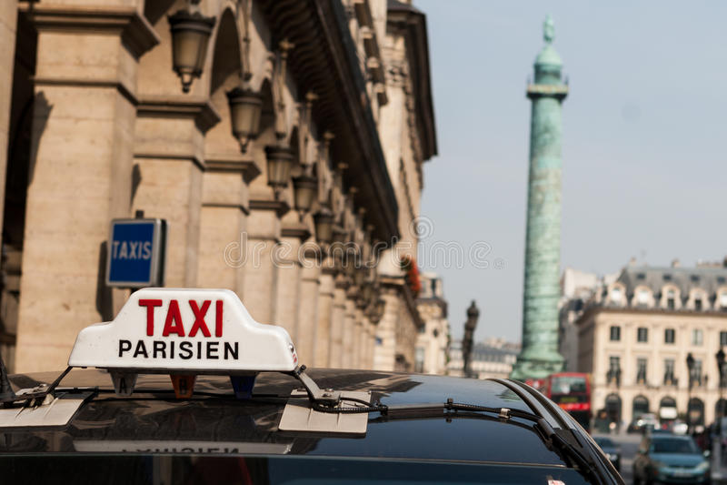 Táxi de Paris fotos de stock