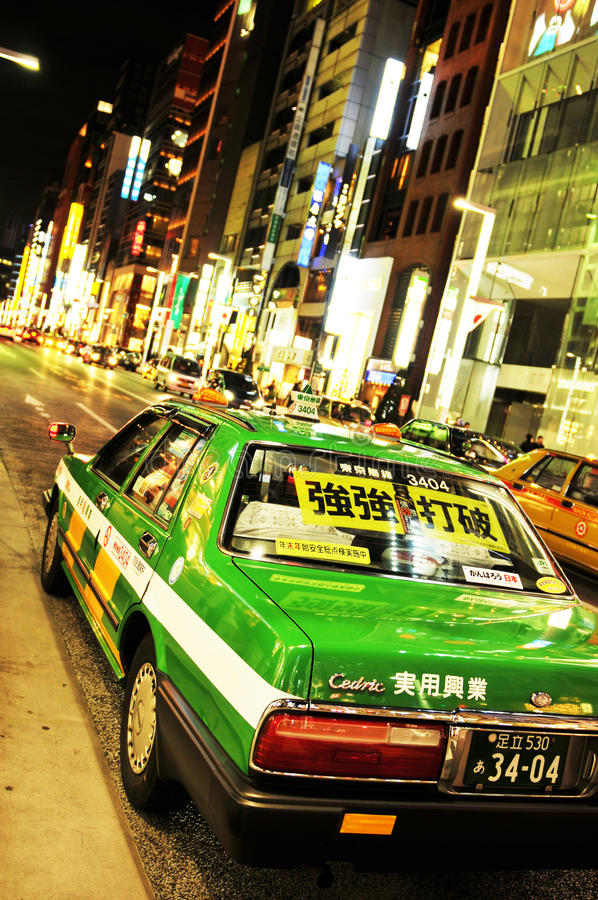 Táxi de Tokyo fotos de stock royalty free