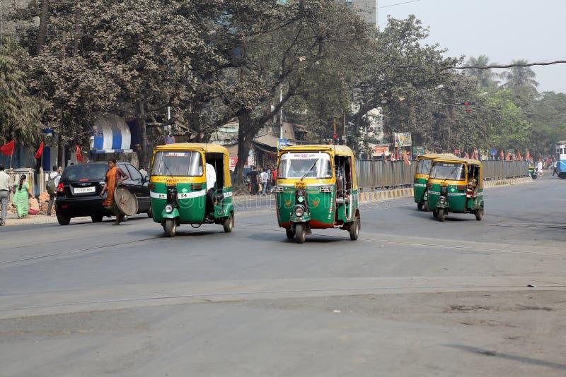 Táxi de Tuk-tuk em Kolkata foto de stock royalty free