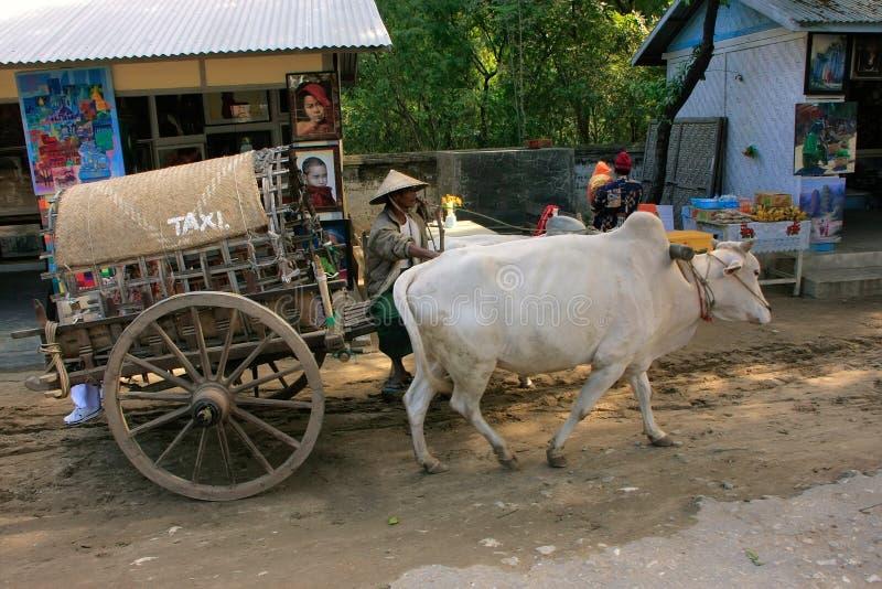 Táxi do turista em Mingun, Mandalay, Myanmar foto de stock royalty free