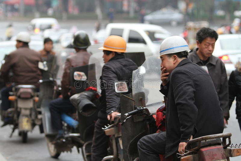 Táxi do velomotor/motocicleta fotos de stock