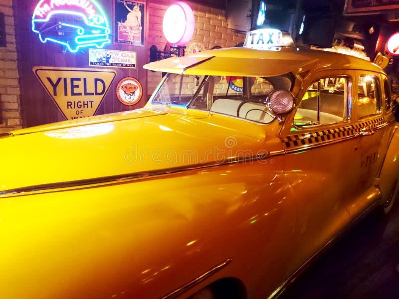 Táxi do vintage de New York fotos de stock