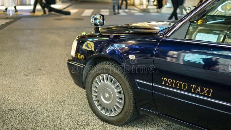Táxi do vintage usado em Japão foto de stock royalty free
