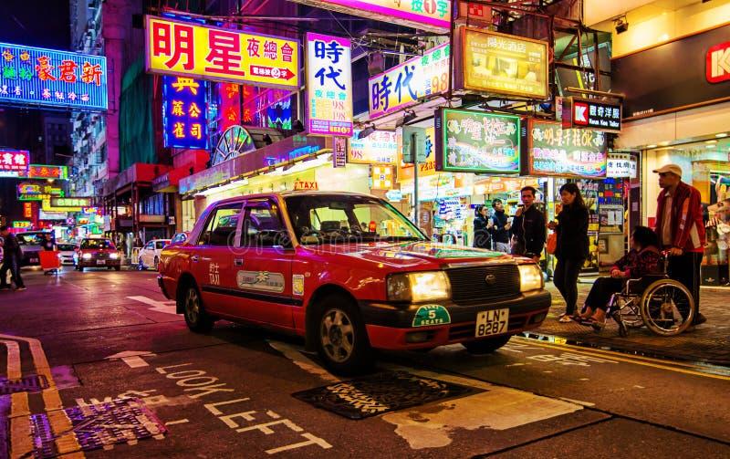 Táxi em Hong Kong imagens de stock