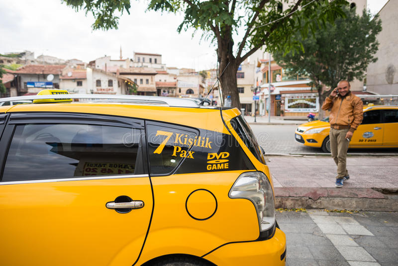 Táxi em Istambul imagens de stock royalty free