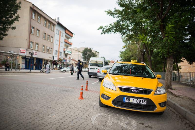 Táxi em Istambul imagens de stock
