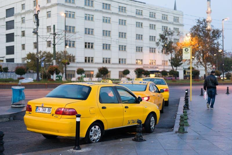 Táxi em Istambul fotografia de stock royalty free