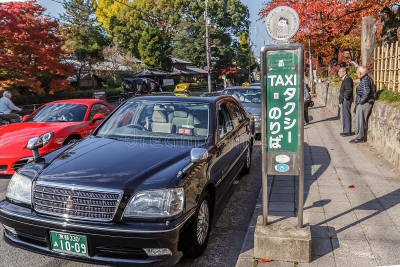 Táxi em Kyoto imagens de stock