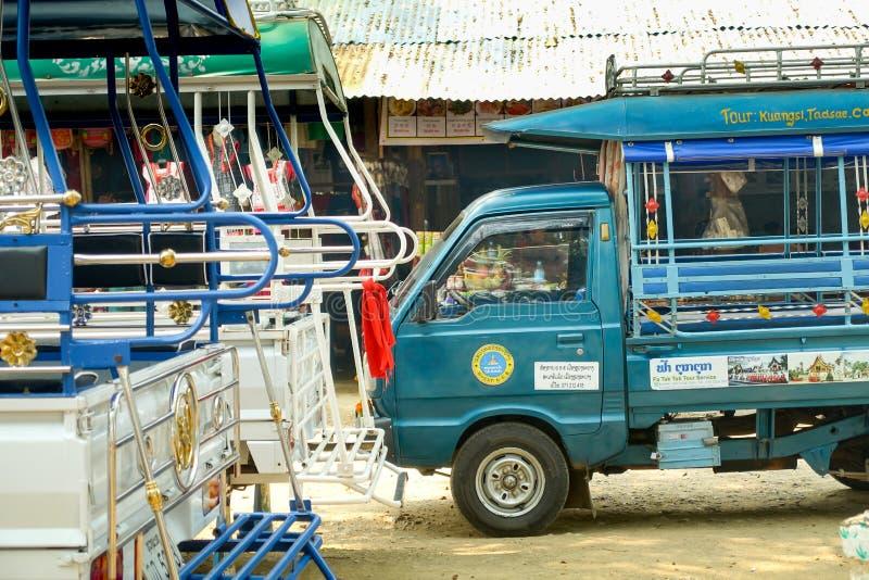 Táxi em laos imagens de stock royalty free
