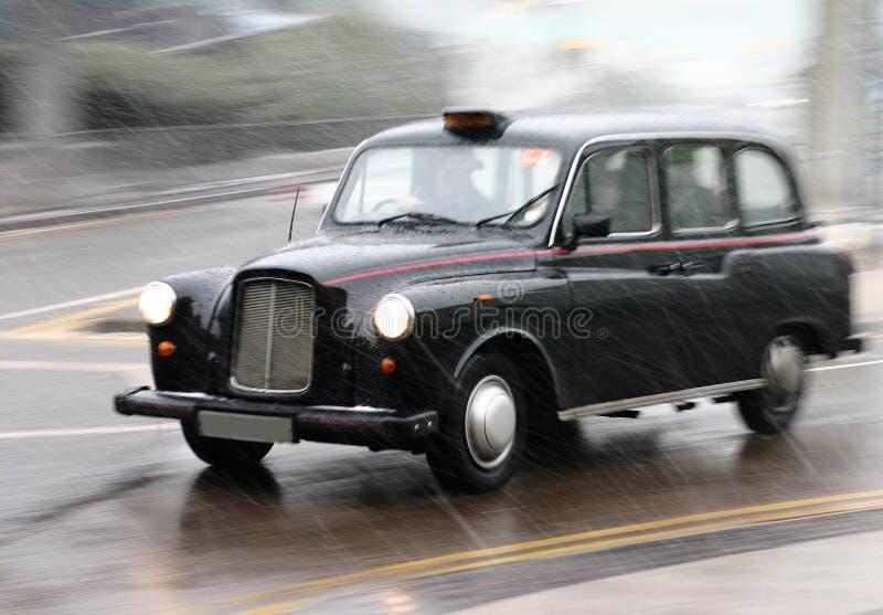 Táxi inglês foto de stock