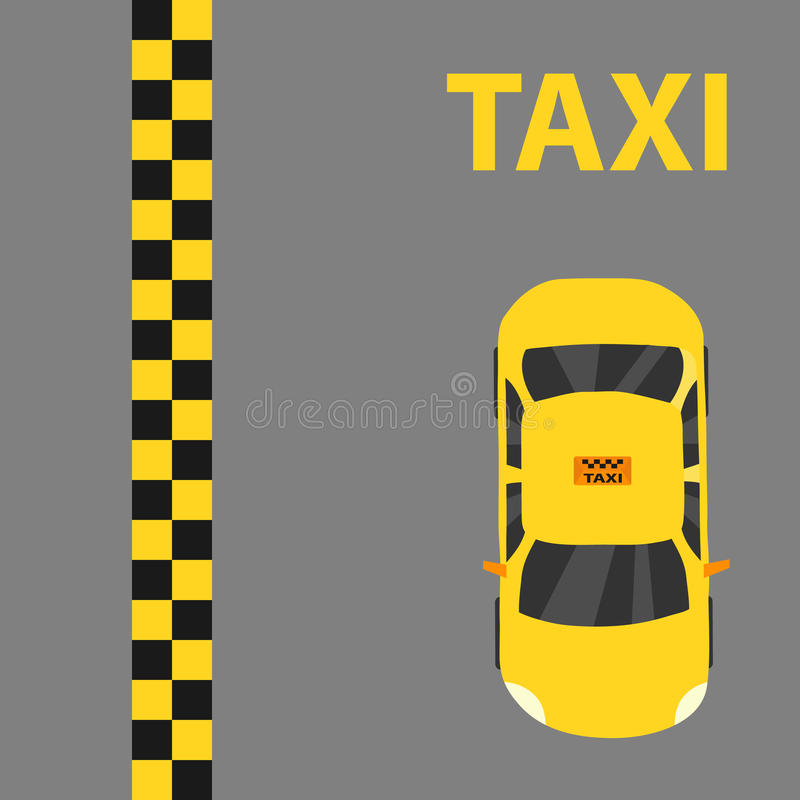 Táxi, logotipo do táxi ilustração do vetor
