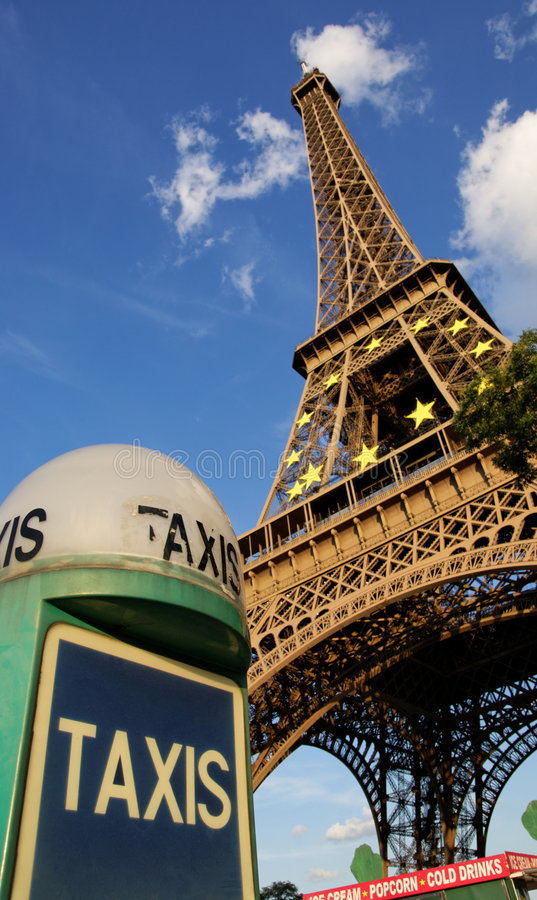 Táxi parisiense fotografia de stock royalty free