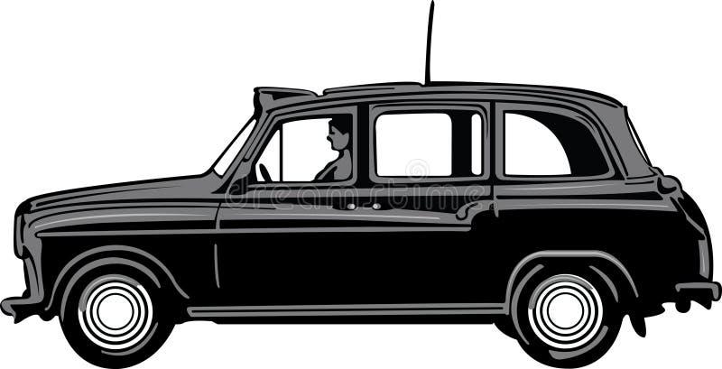 Táxi preto ilustração stock