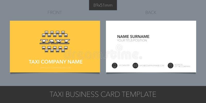 Táxi, projeto de cartão da placa do vetor do táxi O carro contrata o emblema incorporado amarelo ilustração do vetor