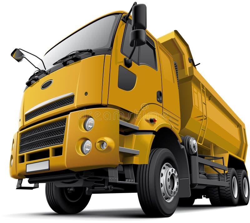 Táxi-sobre o caminhão basculante ilustração do vetor