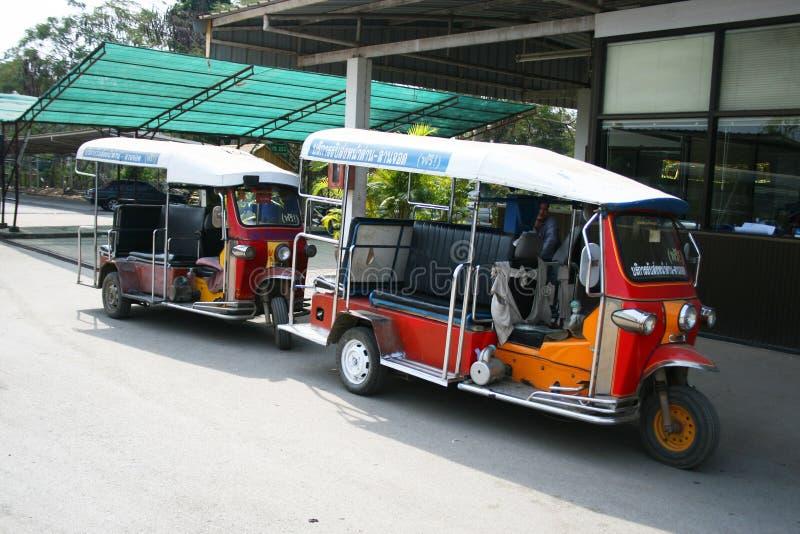 Táxi tailandês de Tuk Tuk, Tailândia. fotografia de stock