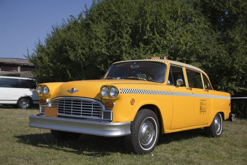 Táxi velho de New York fotografia de stock
